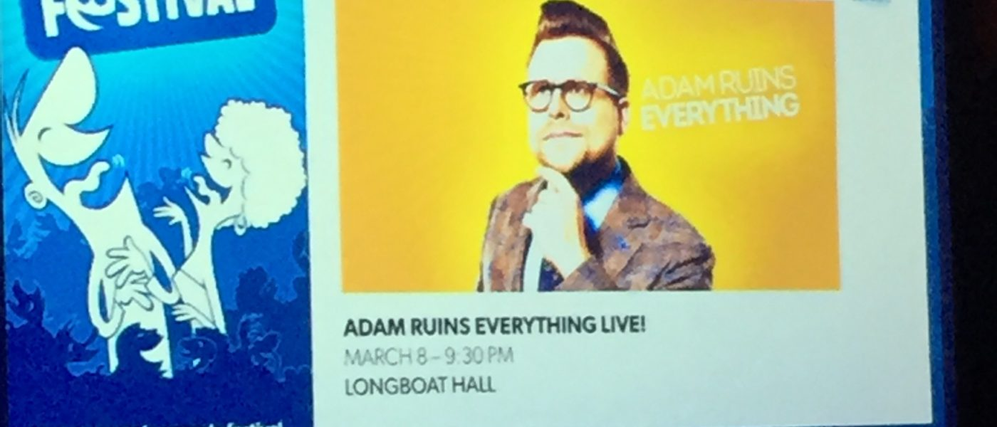 "Toronto Sketch Comedy Festival Presents ""A night with Adam Conover"""